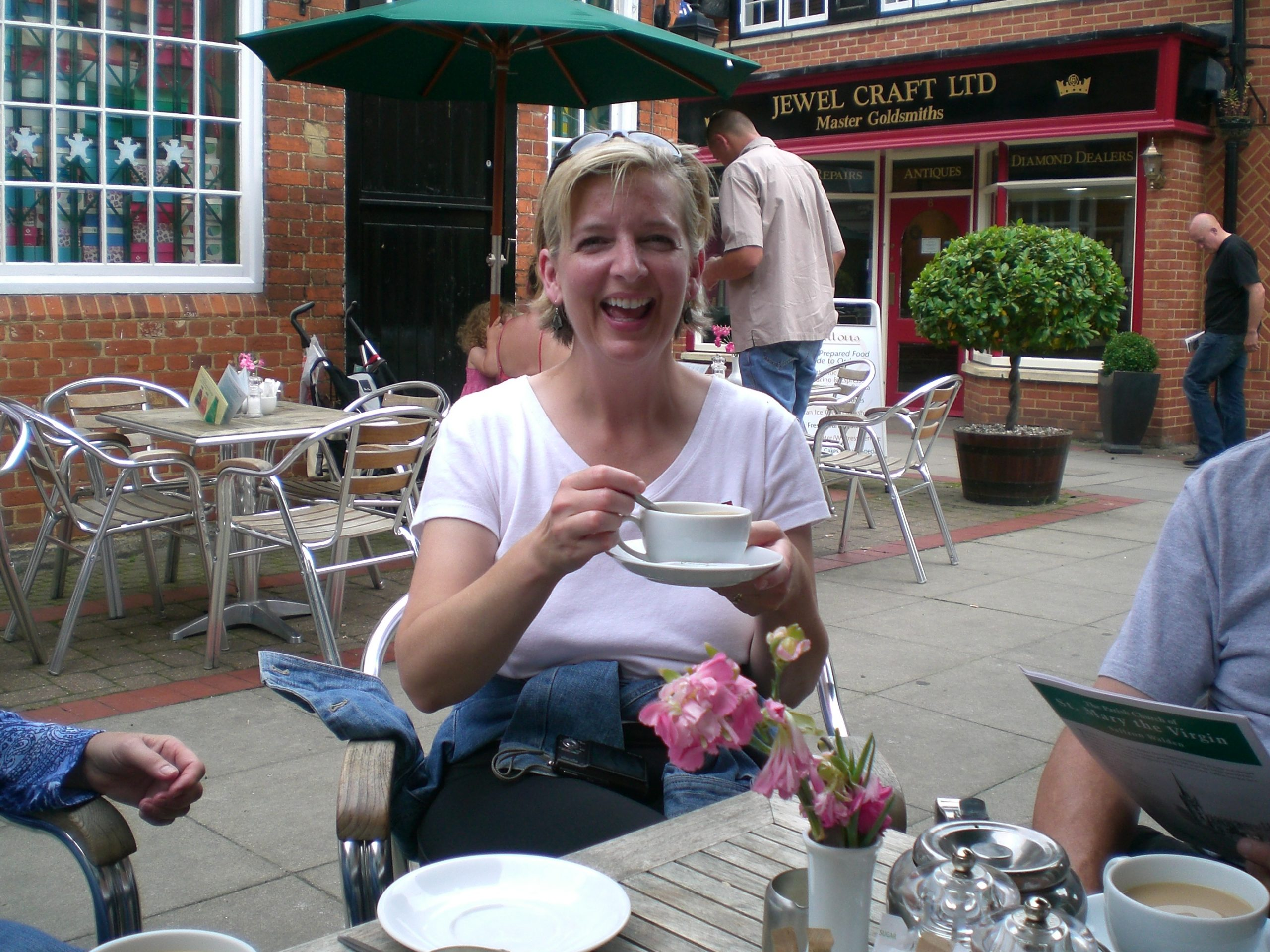 Gail with tea